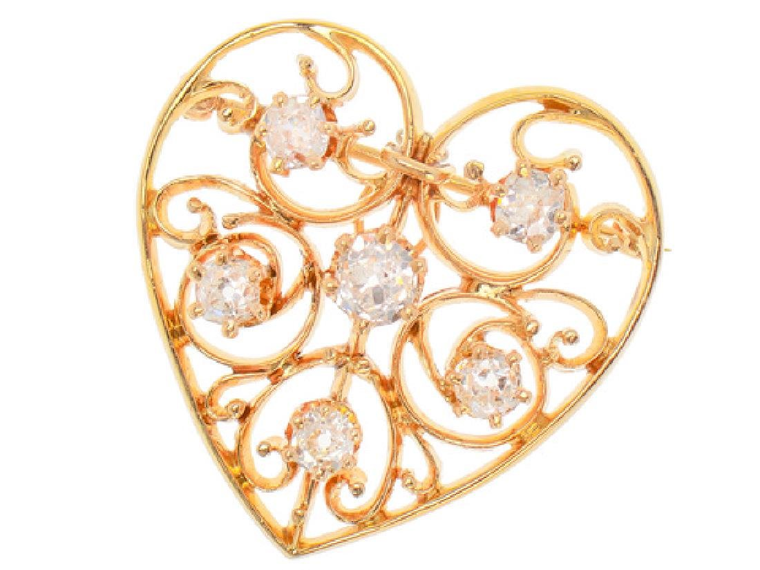 Heart of Mine - Edwardian Diamond Pendant - 7