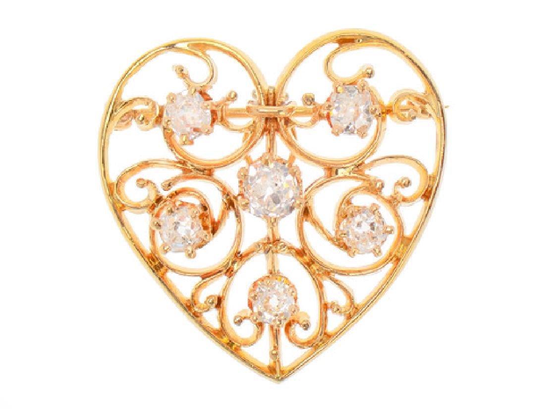 Heart of Mine - Edwardian Diamond Pendant - 8