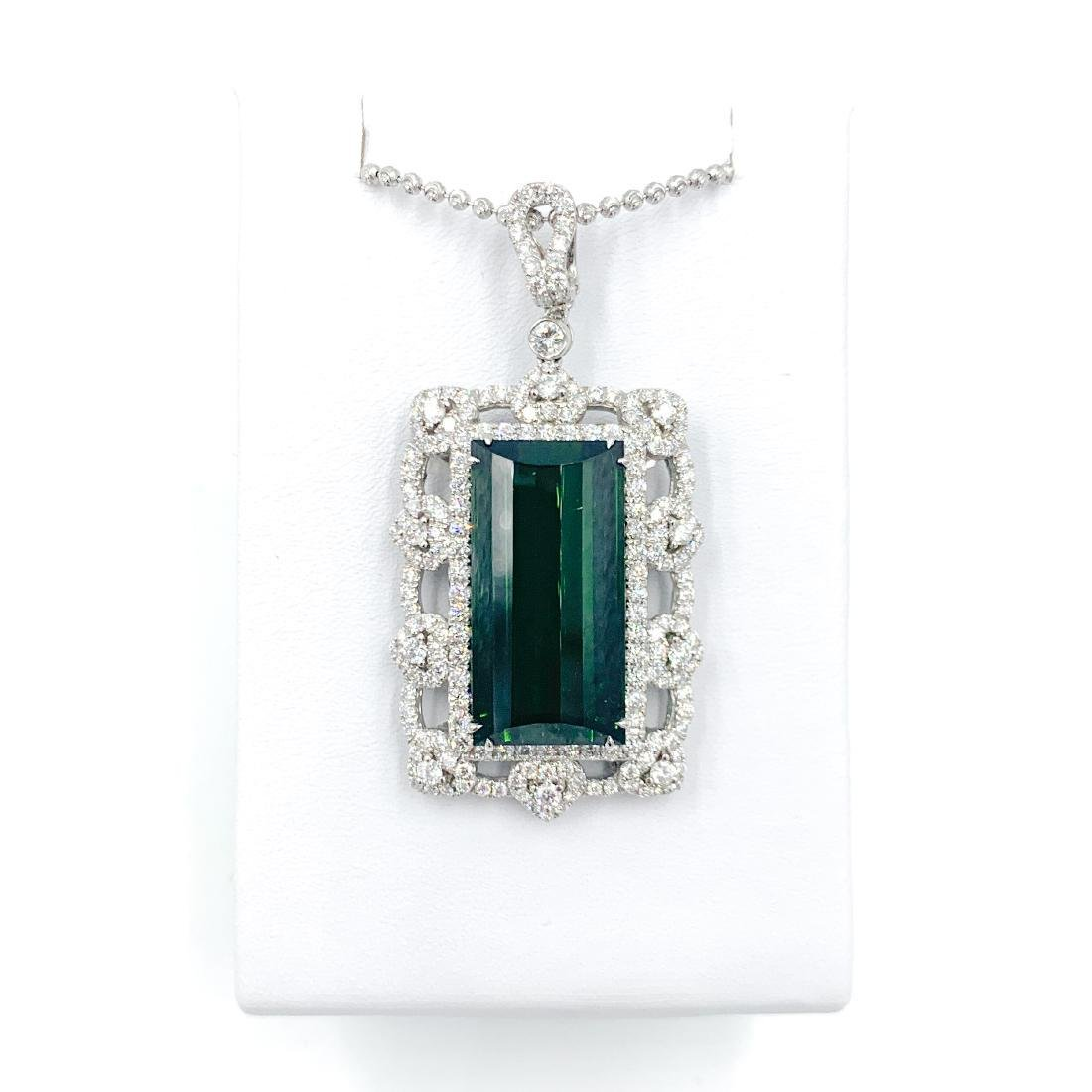 Deep Green Tourmaline Pendant