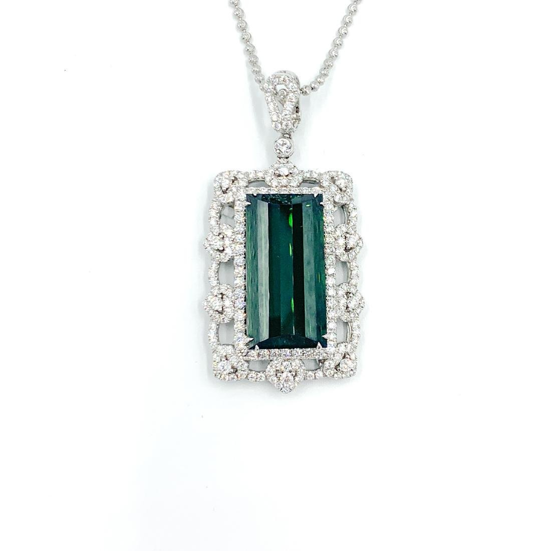Deep Green Tourmaline Pendant - 2