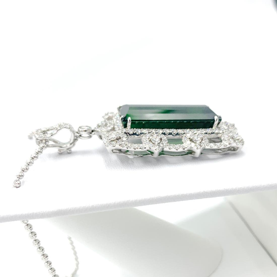 Deep Green Tourmaline Pendant - 3