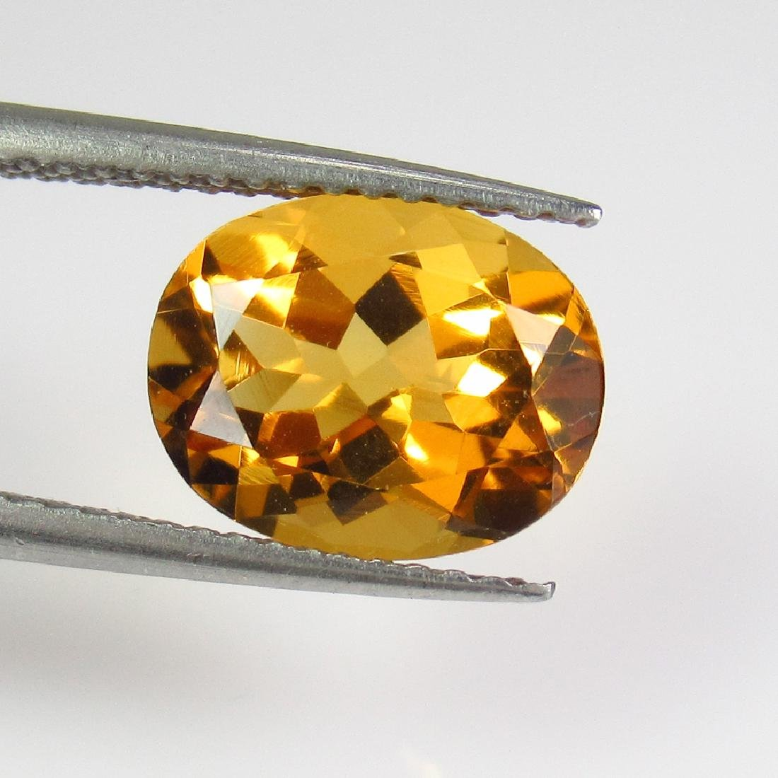 2.51 Ct Genuine Madeira Citrine 10X8 mm Oval Cut