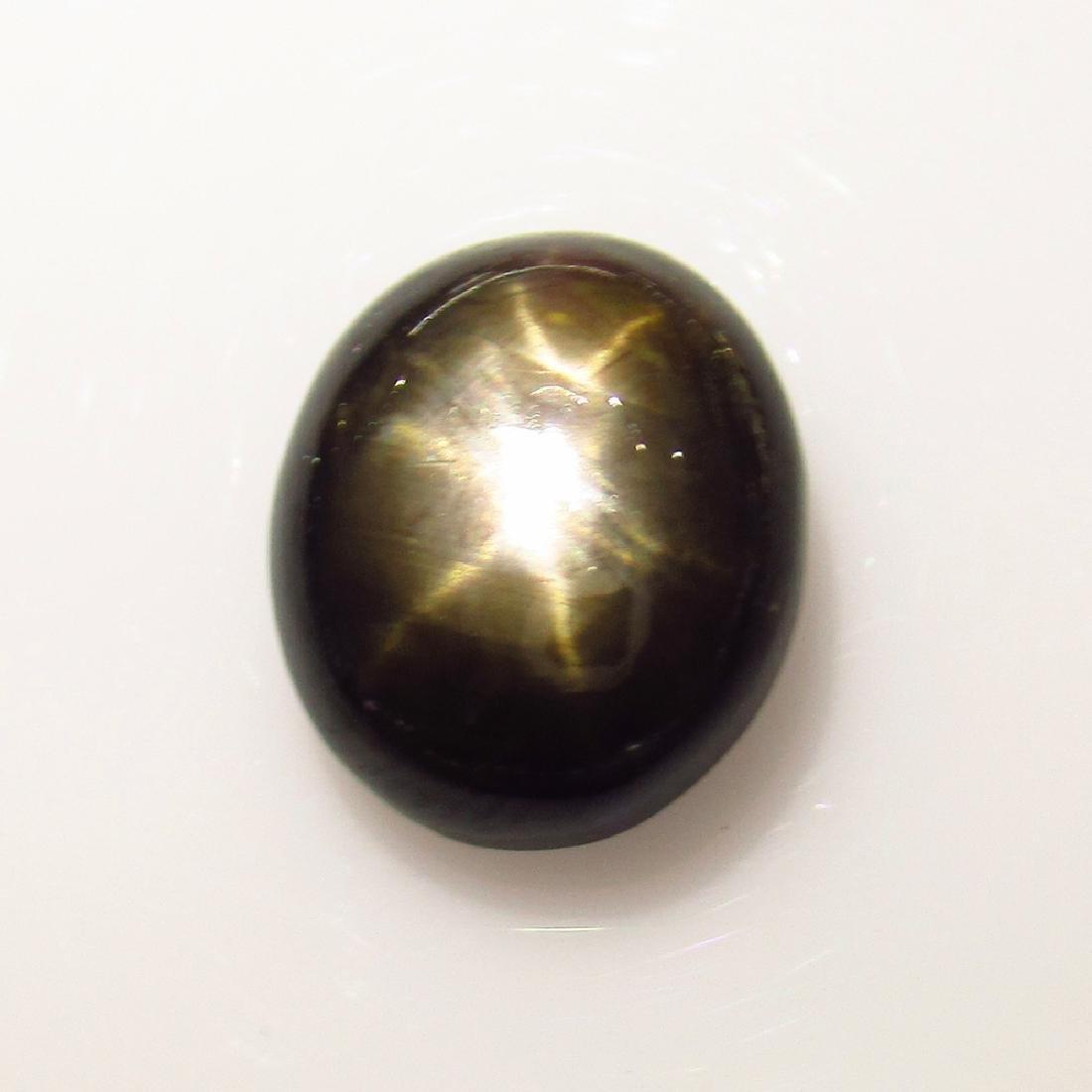 5.74 Ct Genuine Ceylon Six Line Black Star Sapphire