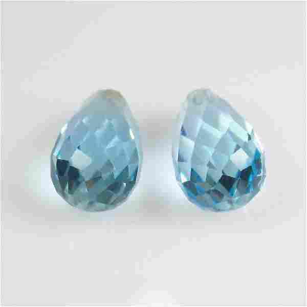 6.39 Ct Genuine Brazil Blue Topaz Drilled Pear Drop