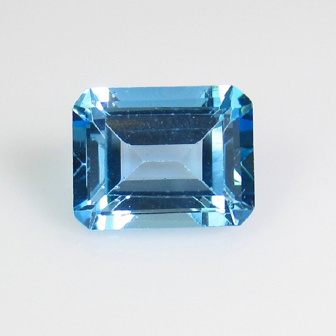 2.93 Ct Genuine Brazil Swiss Blue Topaz Octagon Cut