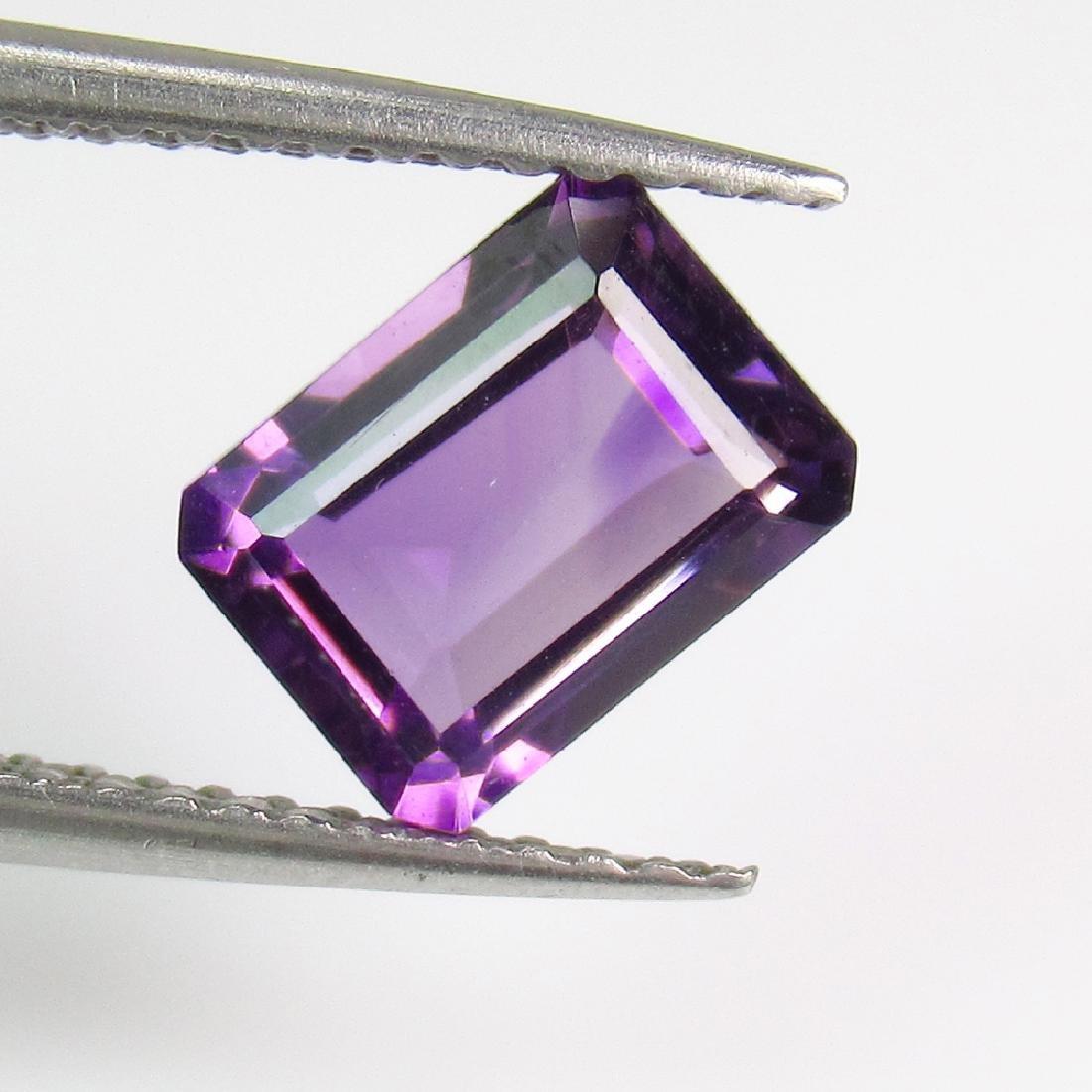 1.45 Ctw Natural Purple Amethyst 8X6 mm Emerald Cut