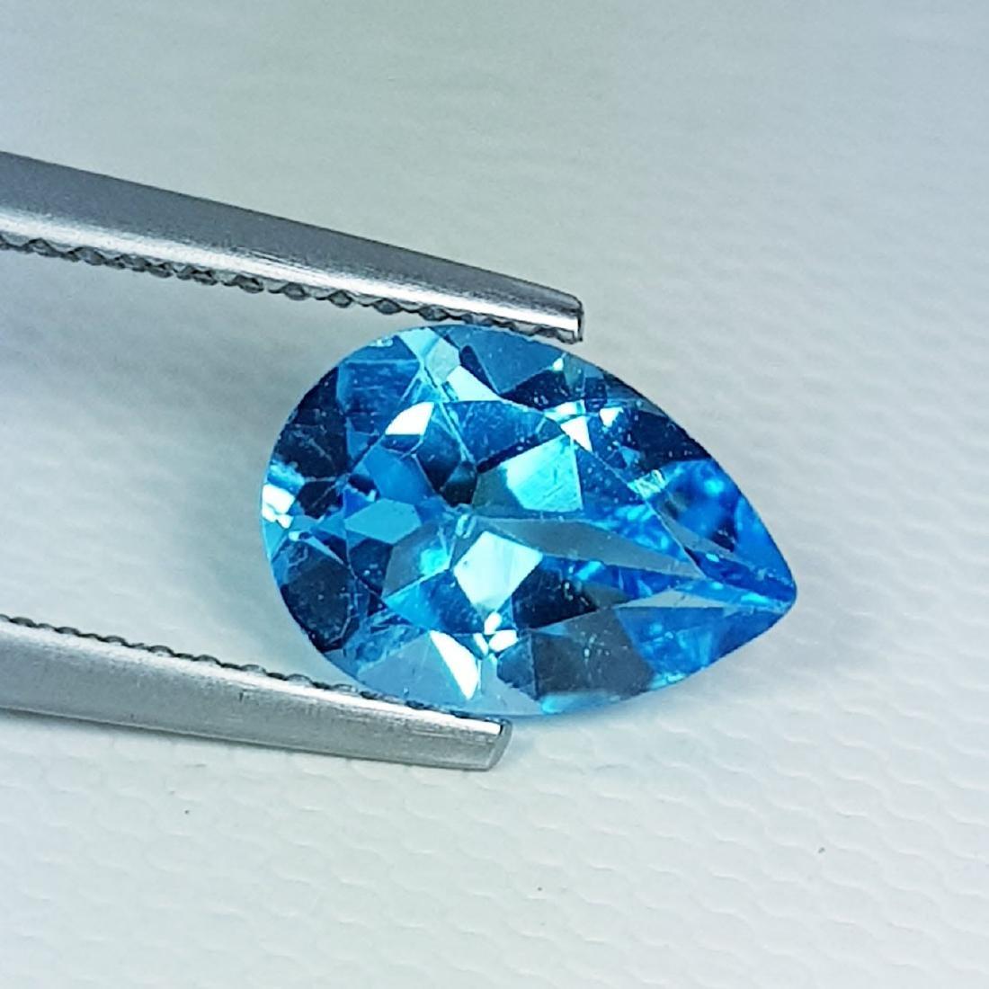 Natural Blue Topaz Pear Cut 2.35 ct