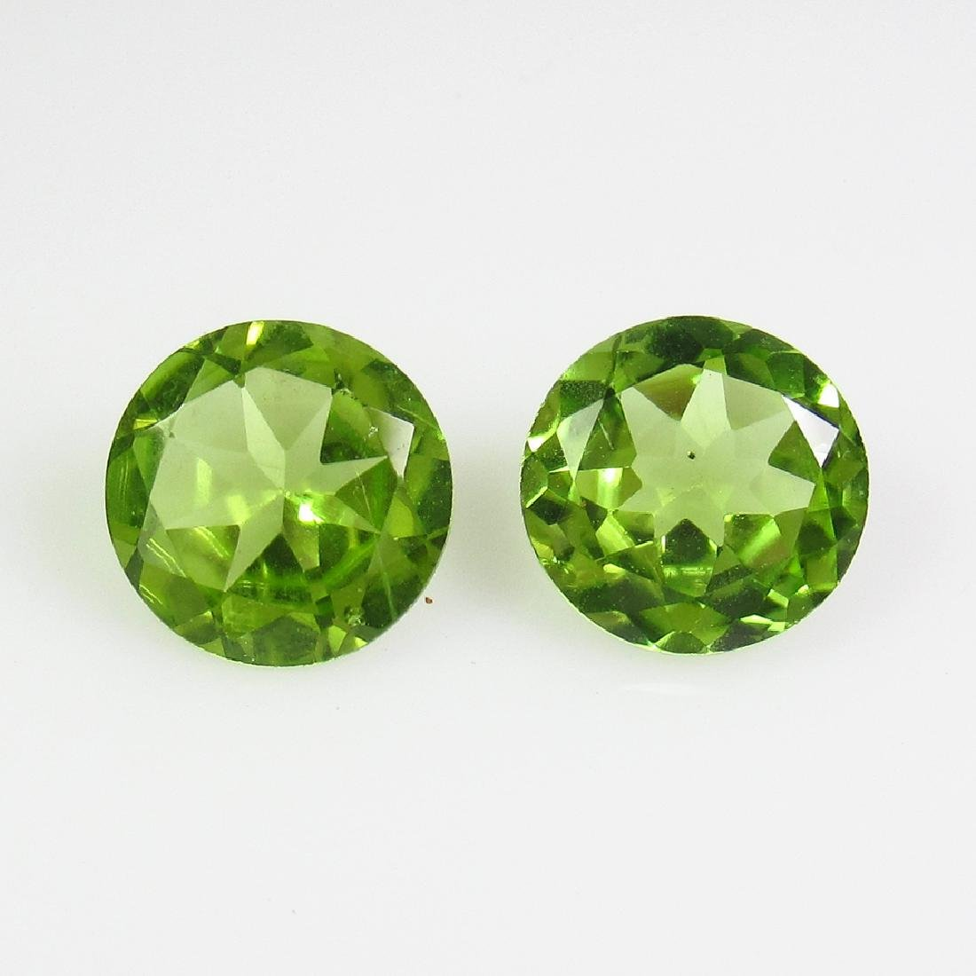 2.32 Ct Genuine Pakistan Peridot Matching Round Pair