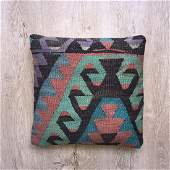 Pillow Cushion made from Handwoven Vintage Kilim