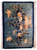 Handmade antique art deco Chinese rug 2' x 3' ( 62cm x