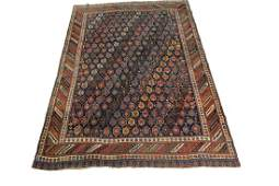Rare Antique Collector Afshar Rug Persia Geometric