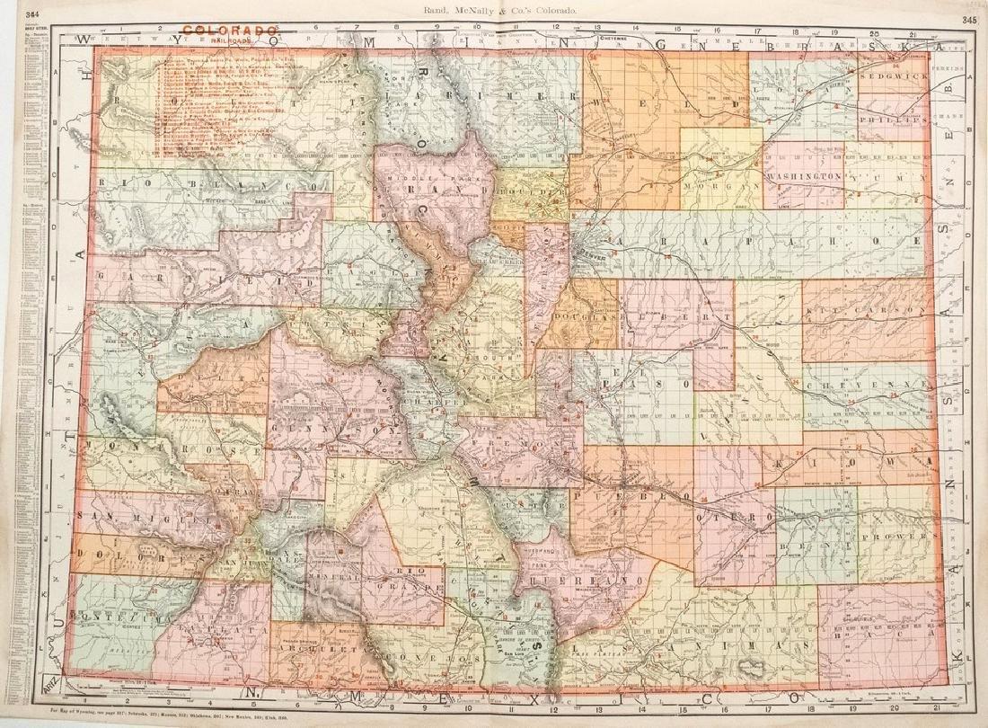 1903 Rand McNally Map of Colorado -- Rand McNally &