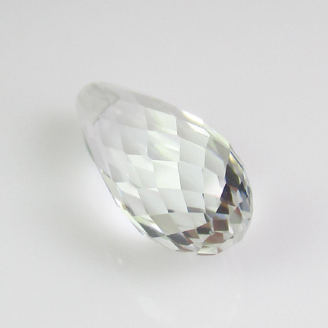 4.24 Ct Genuine White Topaz Drilled Pear Drop