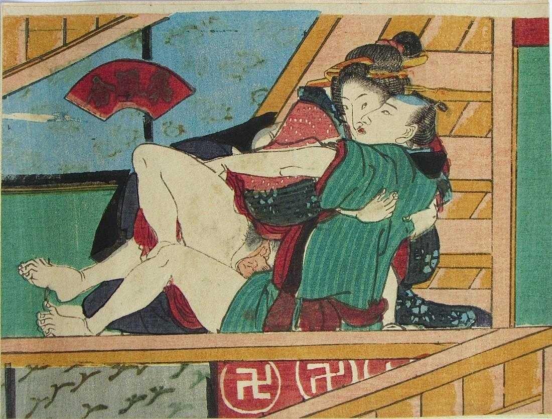 Utagawa school: shunga - 2