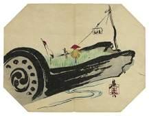 Shibata ZESHIN (1807-91): Decorated bark of tree - an