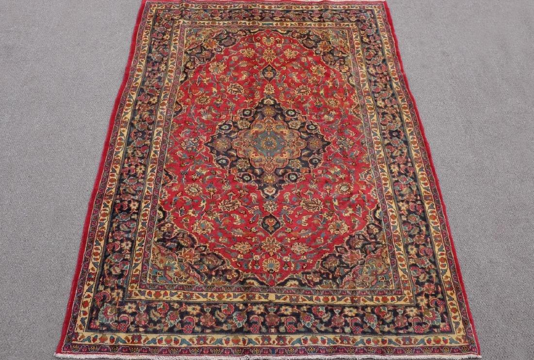 Stunning Semi Antique Persian Kashan 9.4x6.5