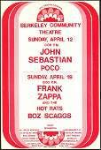 Original Frank Zappa Berkeley Community Theater Poster