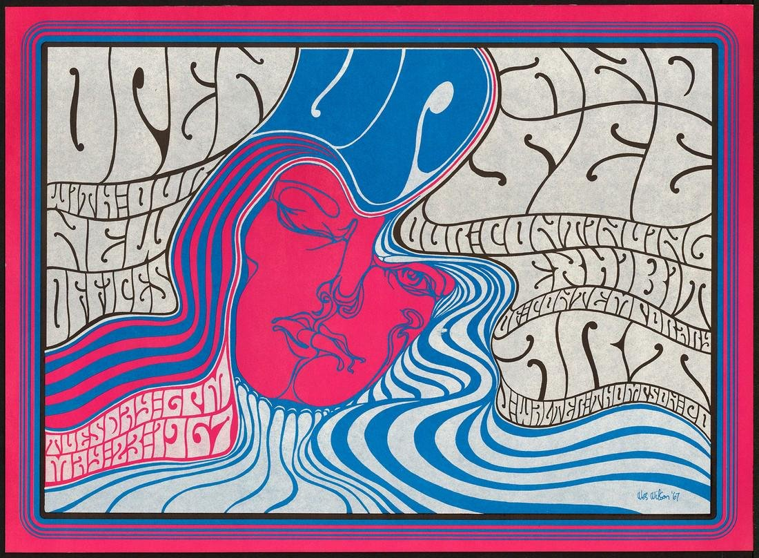 """Wes Wilson """"Open Up And See"""" Poster"""
