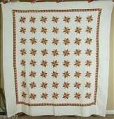 Pre Civil War Vintage Stars Antique Quilt W/ Small