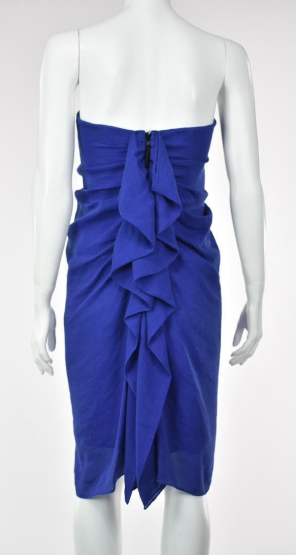 3.1 PHILIP LIM Royal Blue Linen Goddess Dress