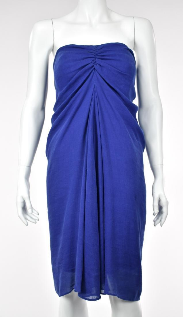 3.1 PHILIP LIM Royal Blue Linen Goddess Dress - 2