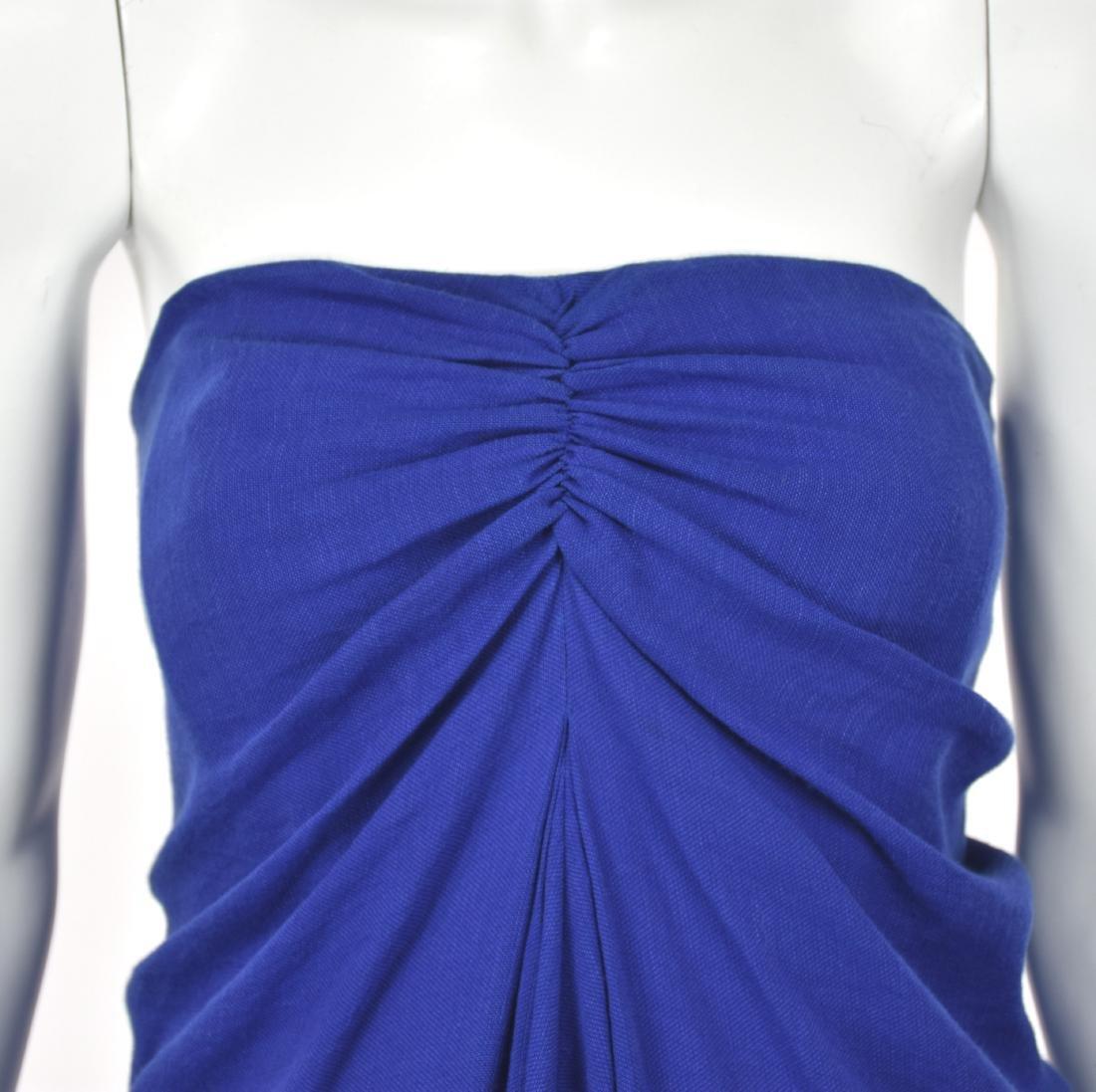 3.1 PHILIP LIM Royal Blue Linen Goddess Dress - 3