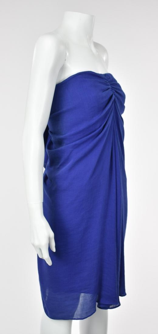 3.1 PHILIP LIM Royal Blue Linen Goddess Dress - 4