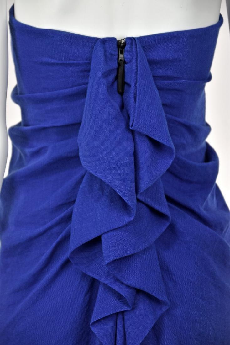 3.1 PHILIP LIM Royal Blue Linen Goddess Dress - 5