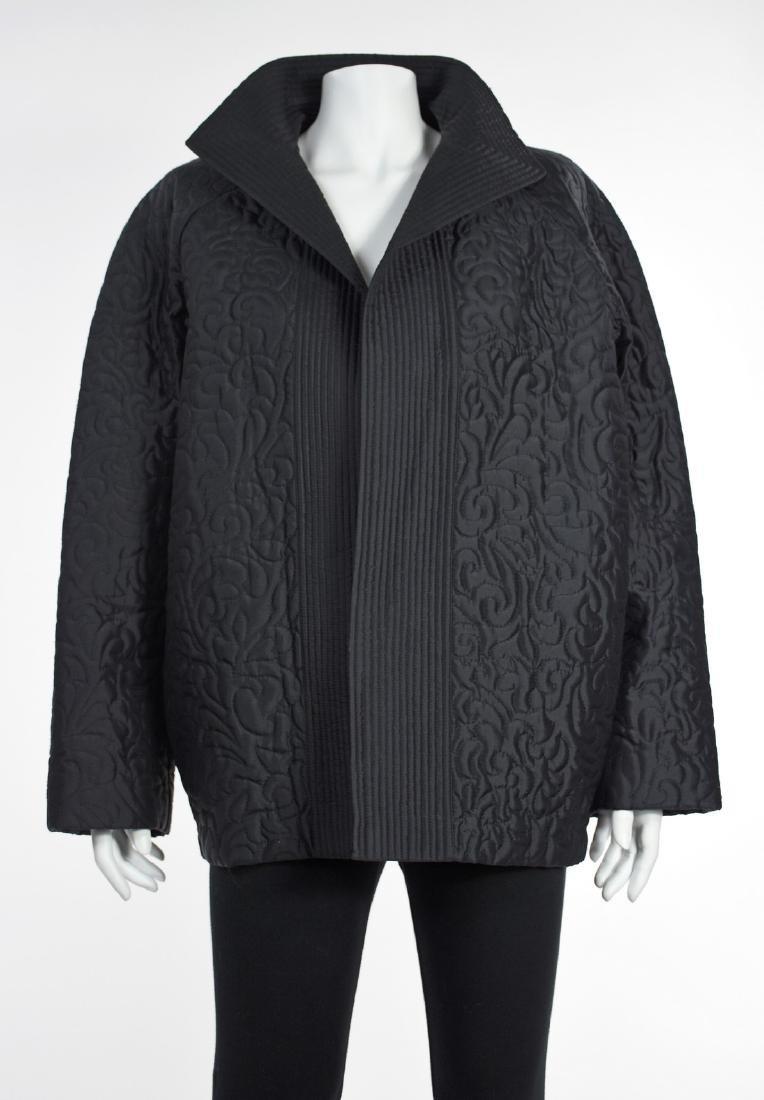 LINDA ALLARD FOR ELLEN TRACY Black Silk Quilted Jacket