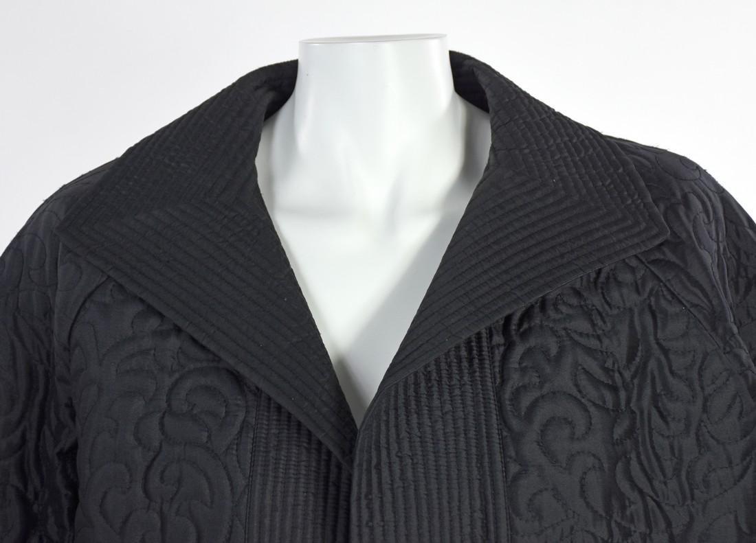 LINDA ALLARD FOR ELLEN TRACY Black Silk Quilted Jacket - 2