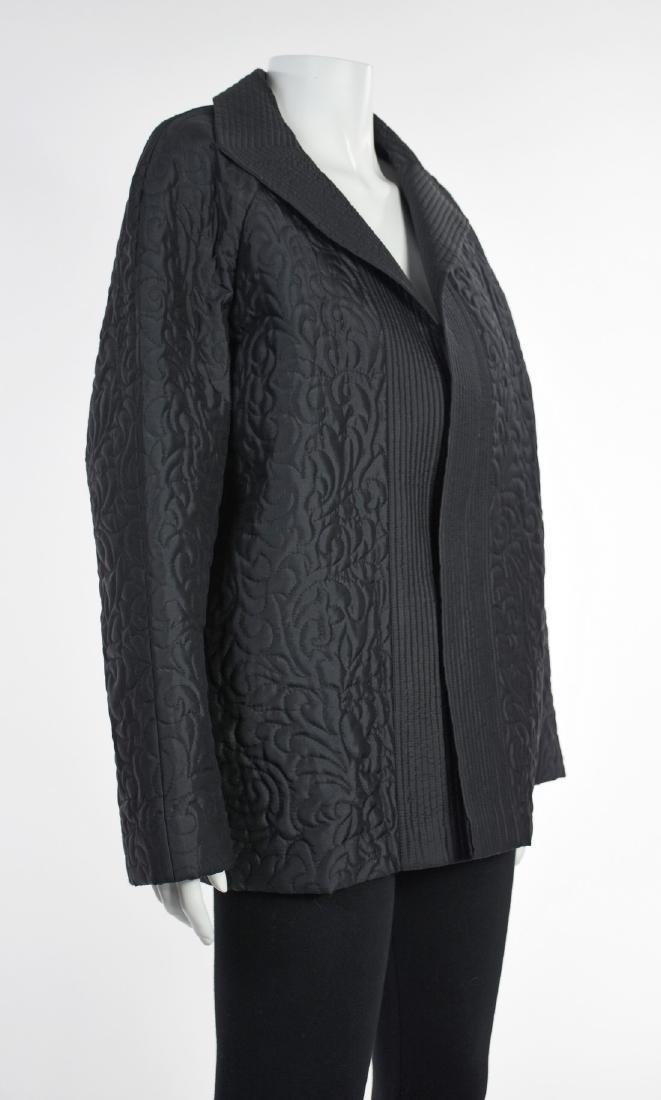 LINDA ALLARD FOR ELLEN TRACY Black Silk Quilted Jacket - 3
