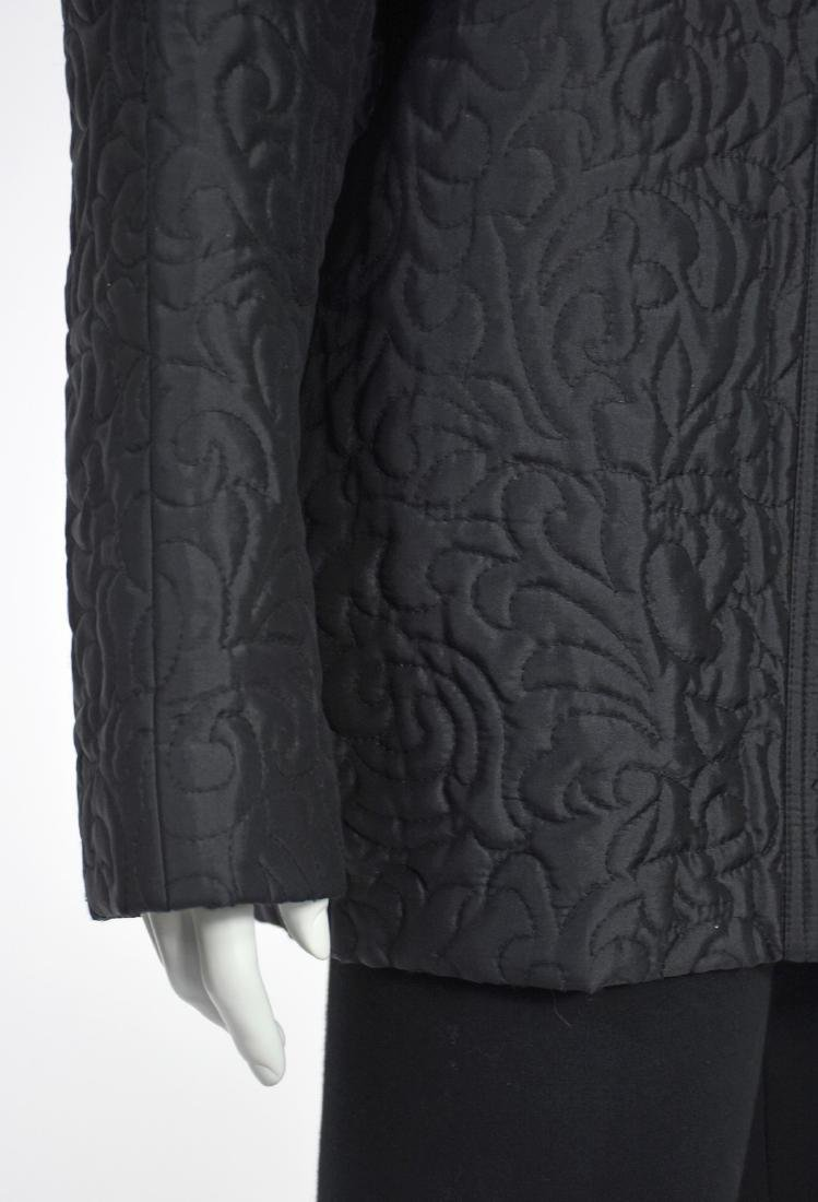 LINDA ALLARD FOR ELLEN TRACY Black Silk Quilted Jacket - 4