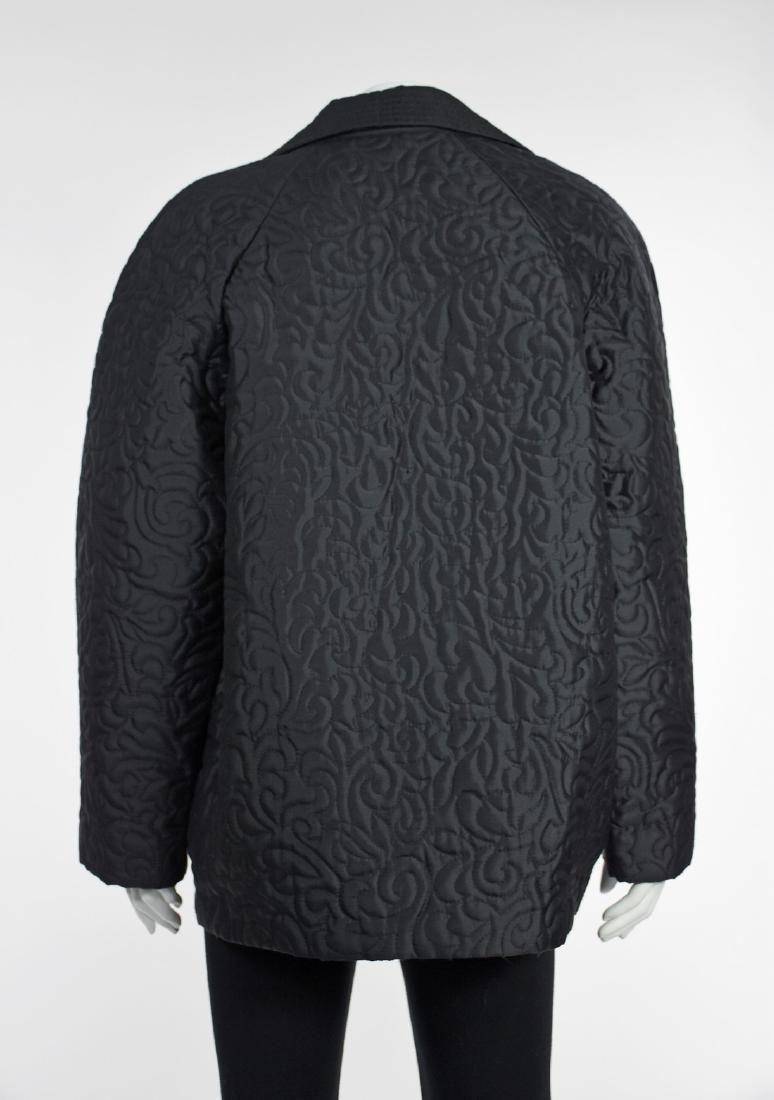 LINDA ALLARD FOR ELLEN TRACY Black Silk Quilted Jacket - 5