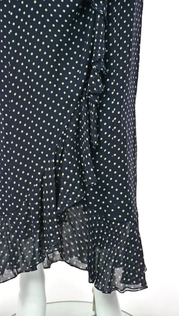 MELINDA ENG Navy Blue Chiffon Maxi Dress - 2