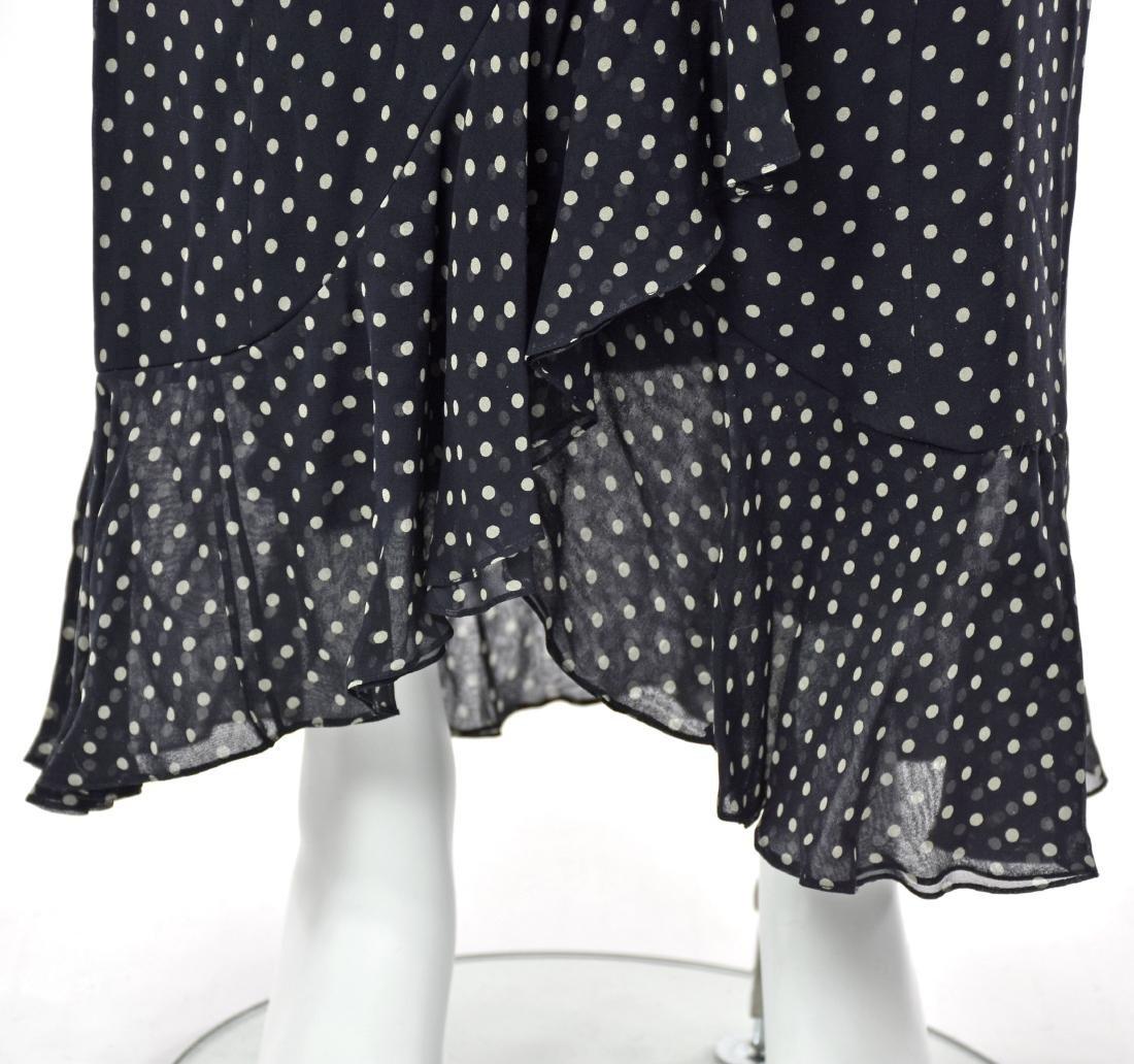 MELINDA ENG Navy Blue Chiffon Maxi Dress - 3