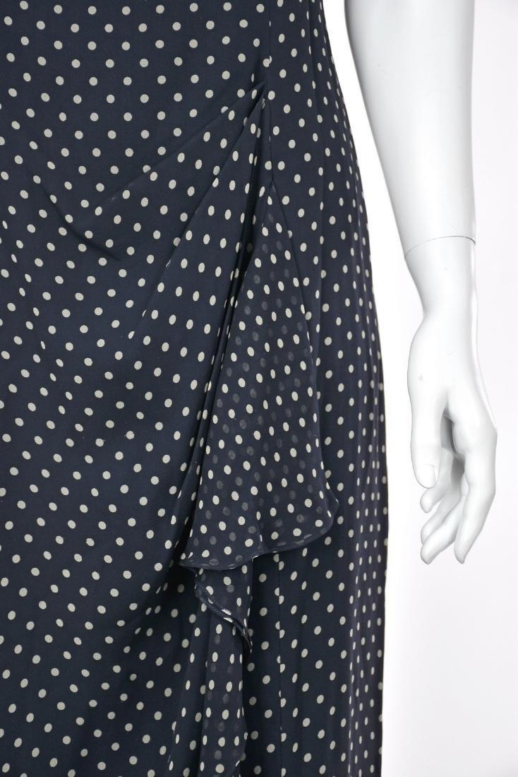 MELINDA ENG Navy Blue Chiffon Maxi Dress - 4