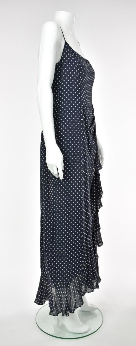 MELINDA ENG Navy Blue Chiffon Maxi Dress - 5