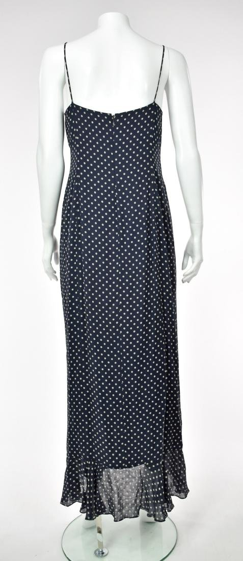 MELINDA ENG Navy Blue Chiffon Maxi Dress - 6