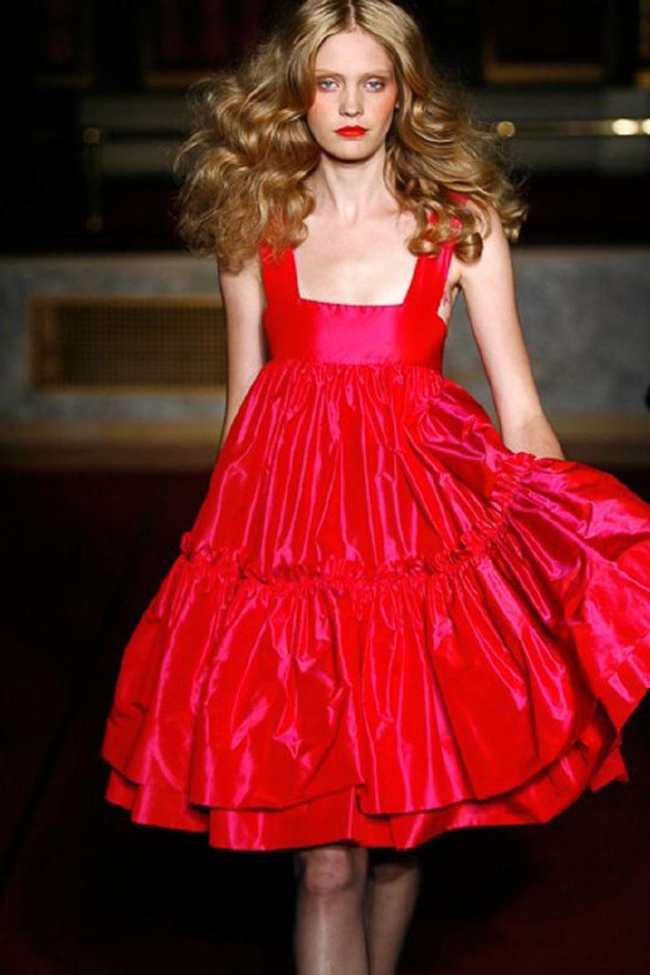 KATY RODRIGUEZ Purple Silk Taffeta Runway Dress - 2