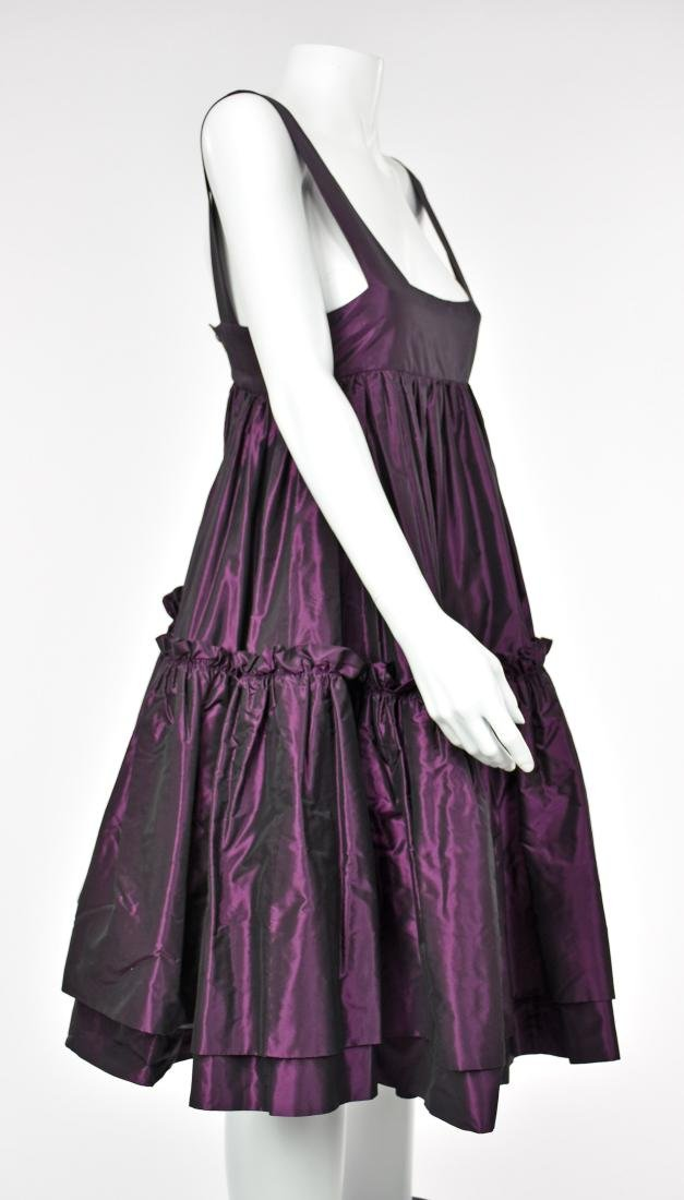 KATY RODRIGUEZ Purple Silk Taffeta Runway Dress - 3