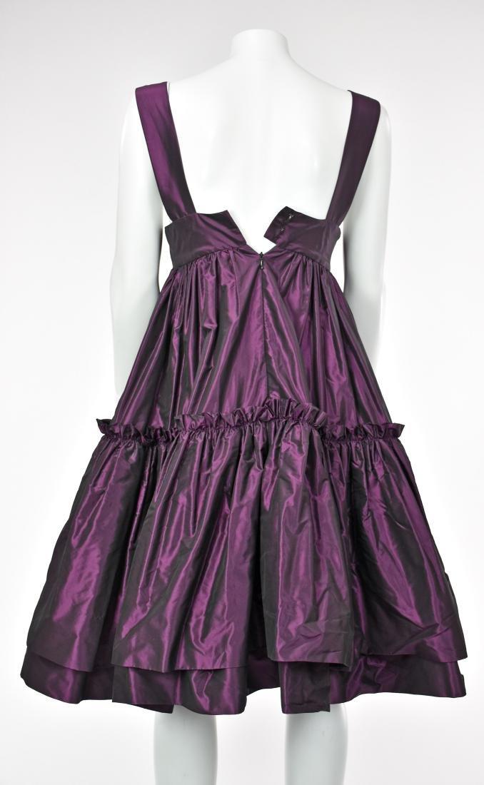 KATY RODRIGUEZ Purple Silk Taffeta Runway Dress - 4