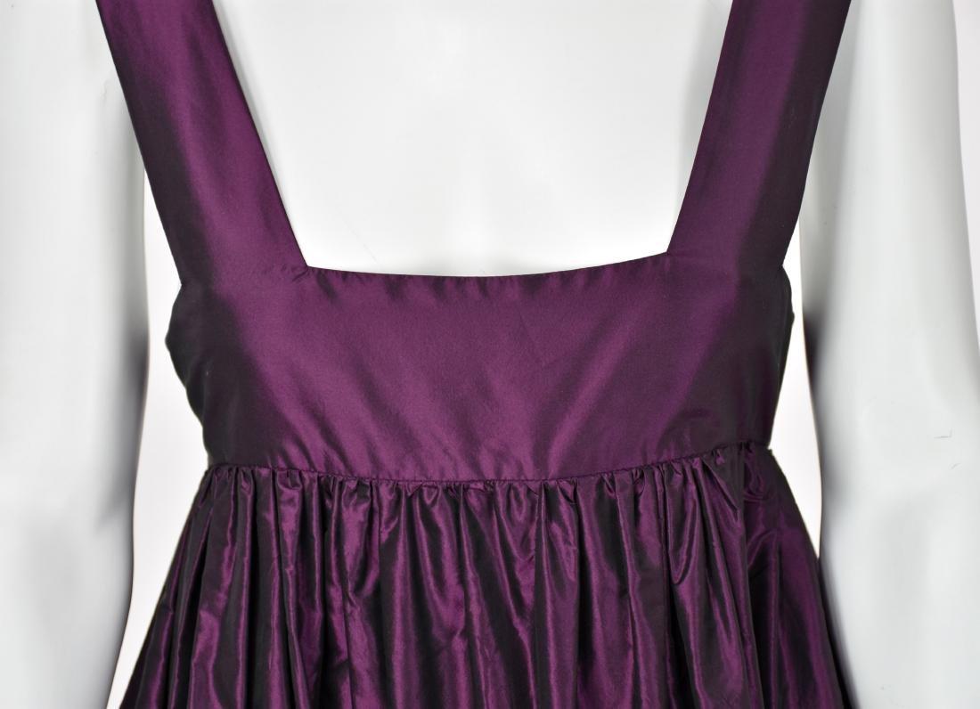 KATY RODRIGUEZ Purple Silk Taffeta Runway Dress - 5