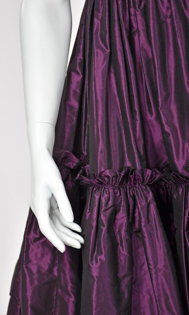 KATY RODRIGUEZ Purple Silk Taffeta Runway Dress - 6