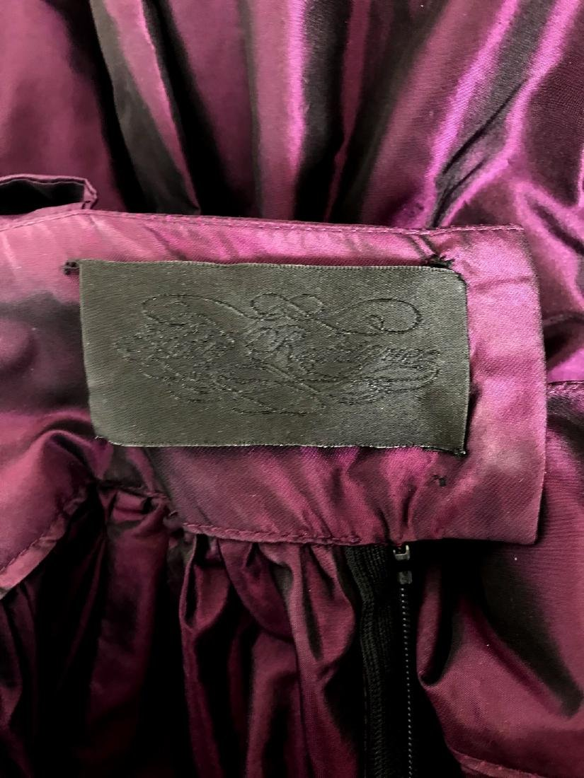 KATY RODRIGUEZ Purple Silk Taffeta Runway Dress - 7