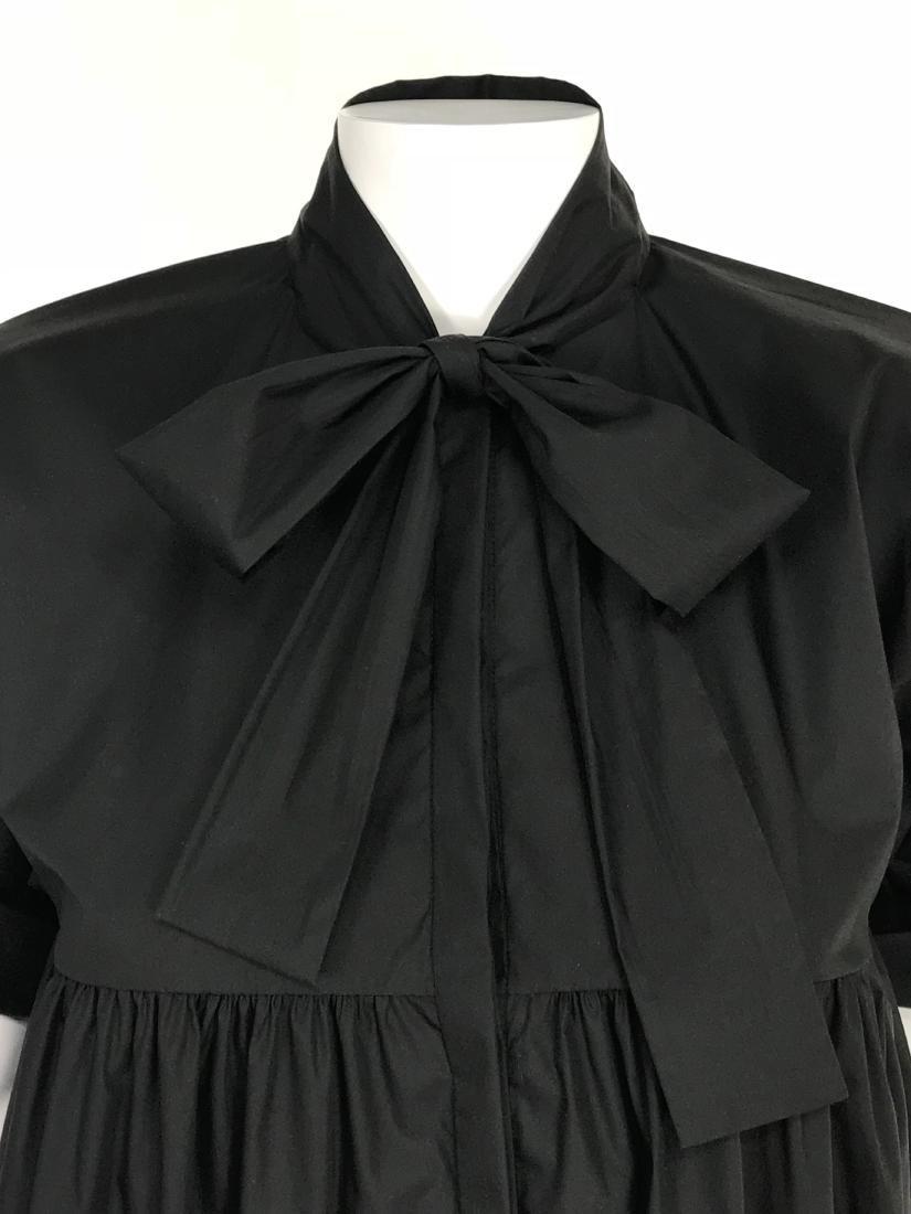 BRIONI Black Artist's Smock Style Blouse RETAIL $1116 - 2