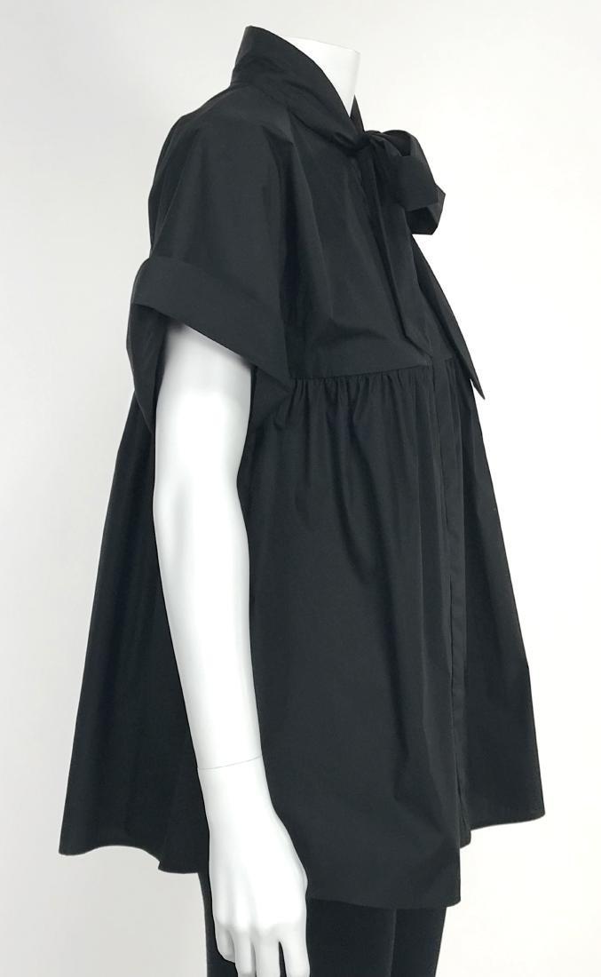 BRIONI Black Artist's Smock Style Blouse RETAIL $1116 - 4