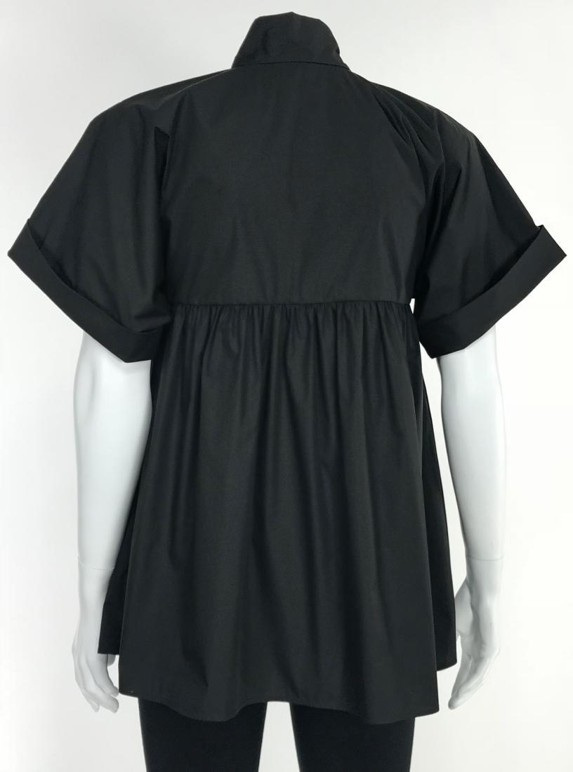 BRIONI Black Artist's Smock Style Blouse RETAIL $1116 - 5