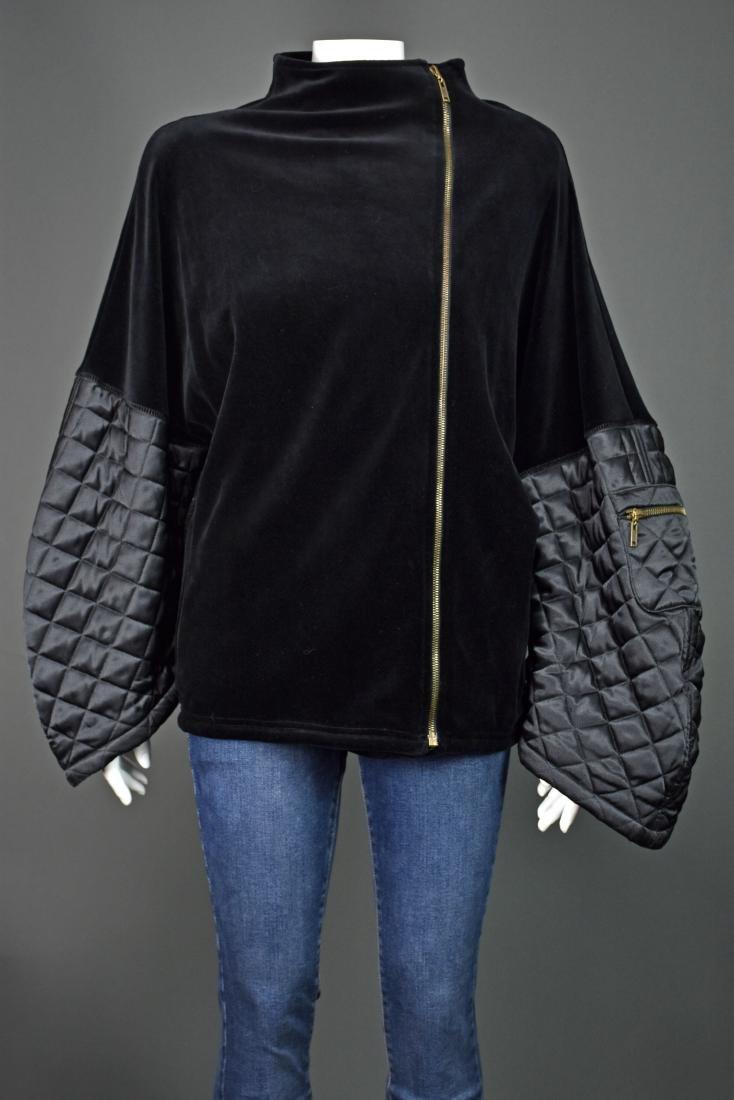 SONIA RYKIEL Velvet Jacket w/ Quilted Statement Sleeves