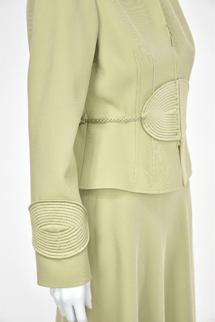 VALENTINO Vintage 1980s Lime Green Skirt Suit - 3