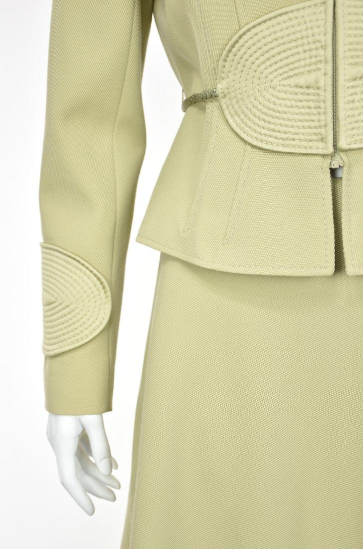 VALENTINO Vintage 1980s Lime Green Skirt Suit - 4